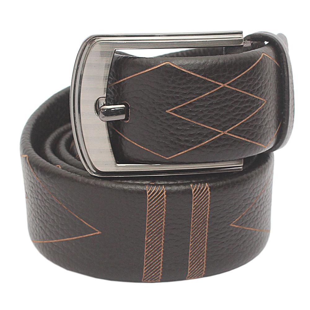 Brown Pattern Classic  Belt L 50 Inches