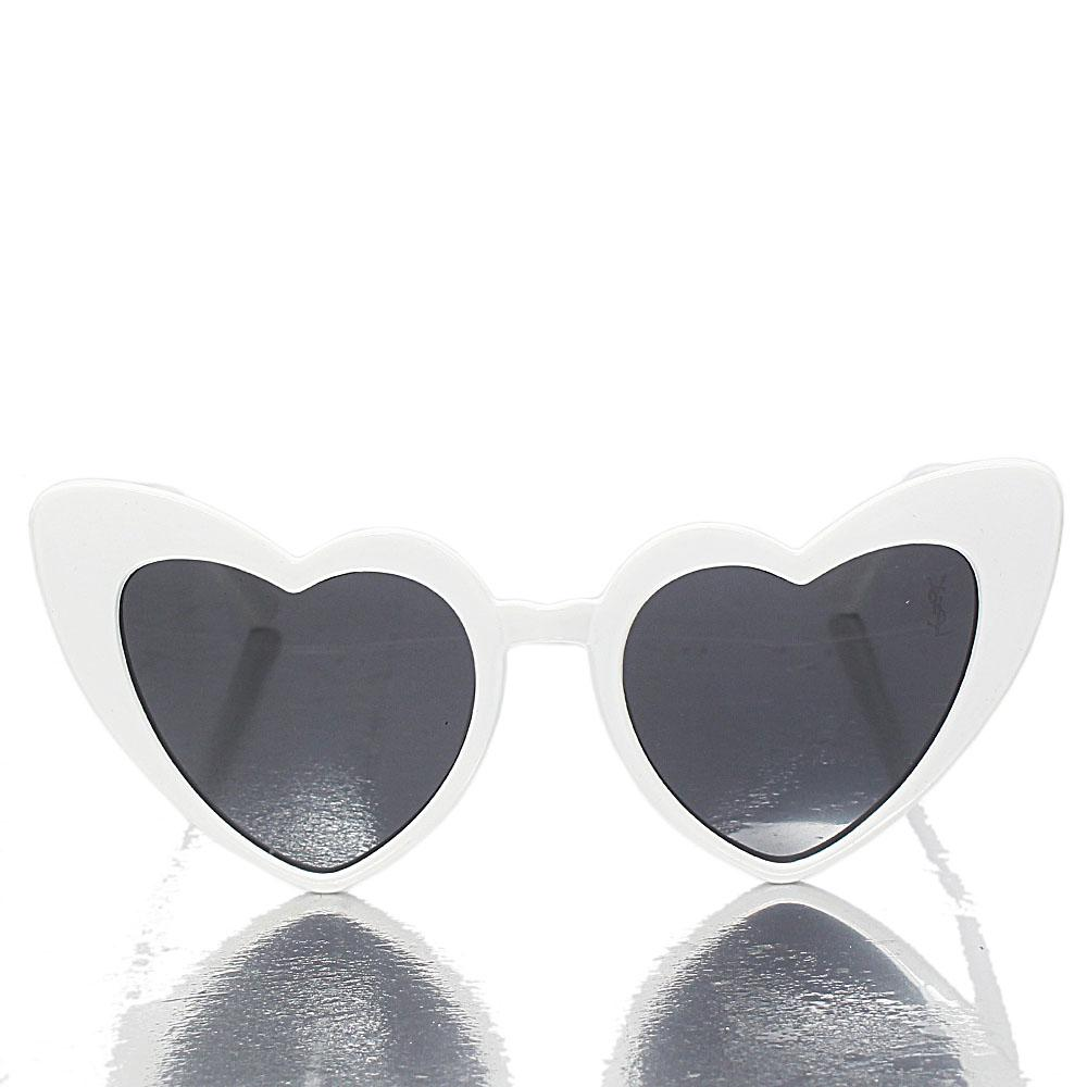 White Heart Dark Lens Sunglasses