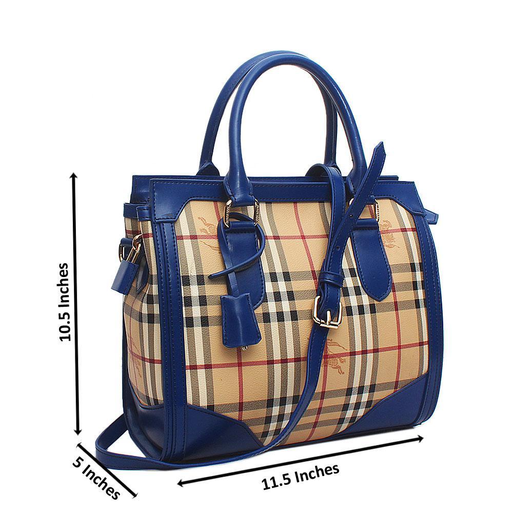 Blue-Cream-Saffiano-Leather-House-Check-Bag