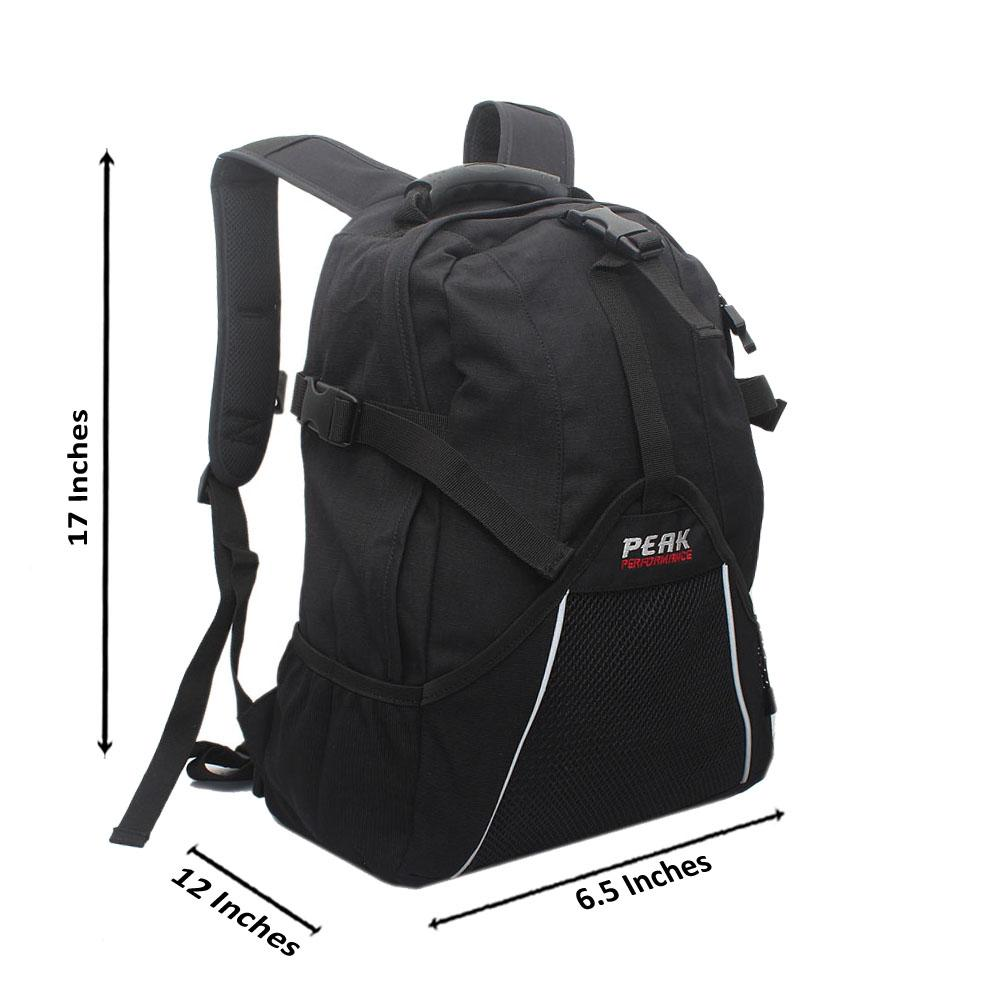Peak Performance Black Fabric Backpack