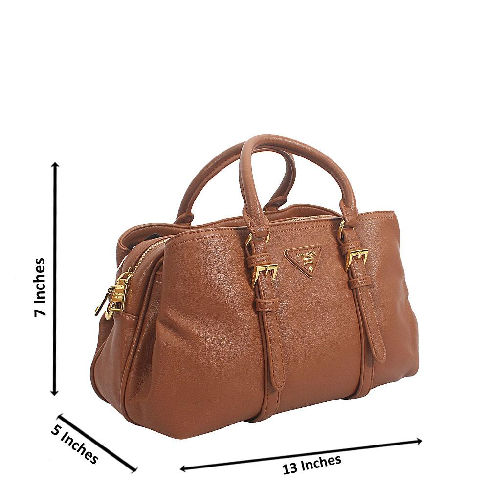 Brown Amai Tuscany Leather Samll Tote Handbag