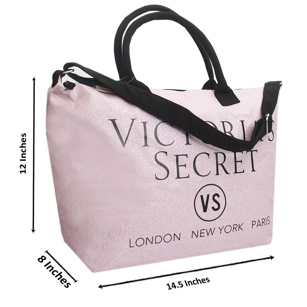VS Pink Shimmering Leather Duffle Bag