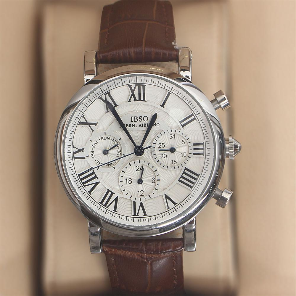 Martinez Brown Leather Classic Ladies Watch