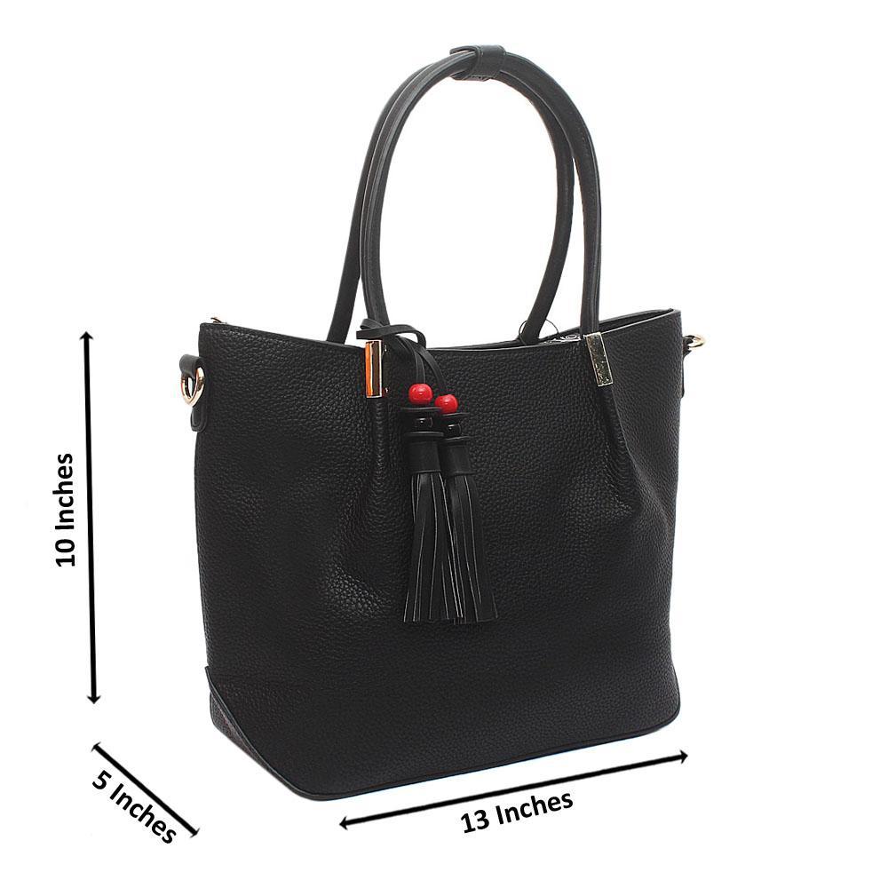 Black Ellie Medium Leather Handbag