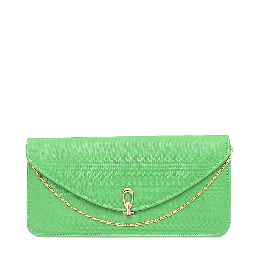 Fashion Light Green Leather Clutch Purse