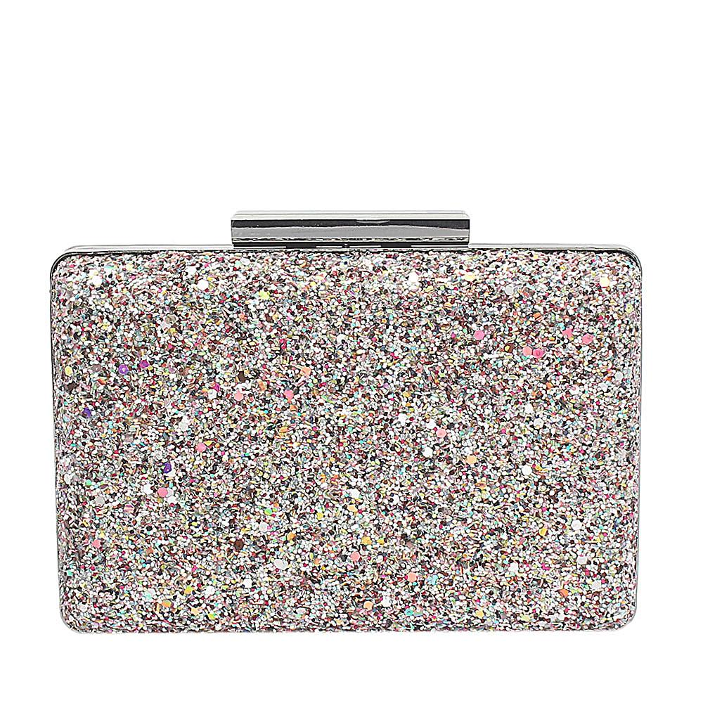 Silver Glitz Premium Hard Clutch Purse
