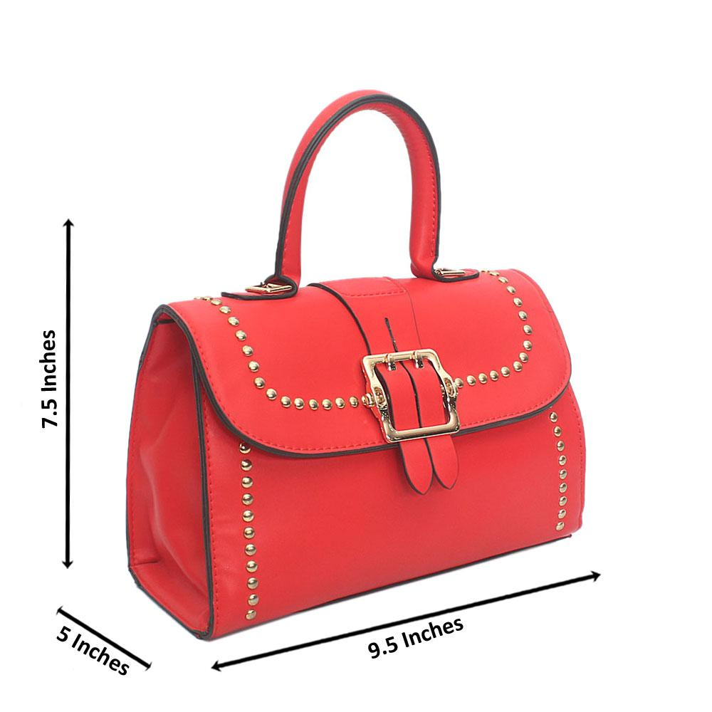 Red Leather Bag Wt Minor Scratch