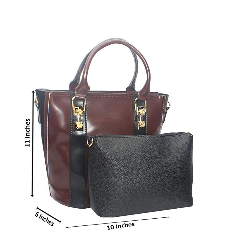 Black Coffee Whirly Pop Tandy Leather Tote Bag