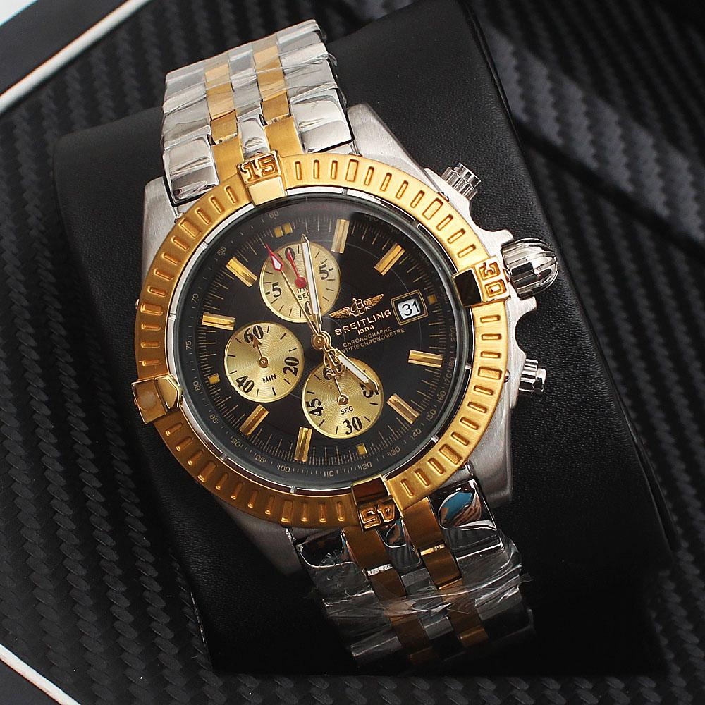Silver Rose Gold Chain Men Watch -comes in wholesale case
