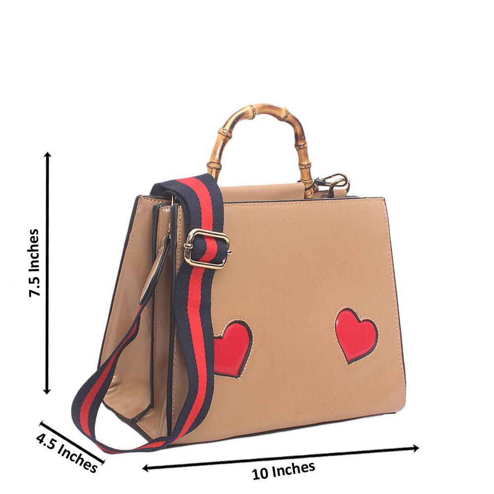 Khaki Brown Faded Leather Handbag