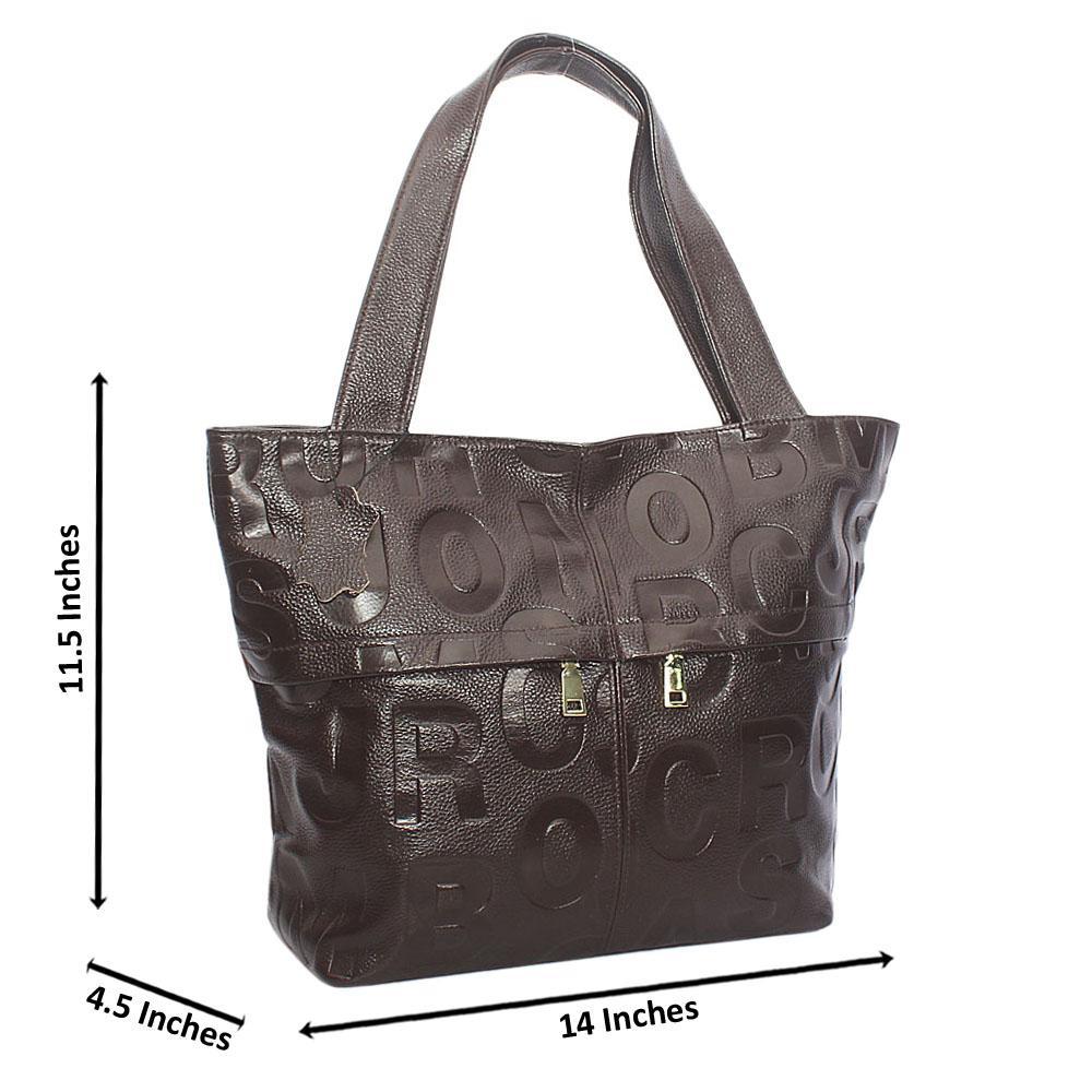 Stylish Brown Aussie Leather Shoulder Handbag