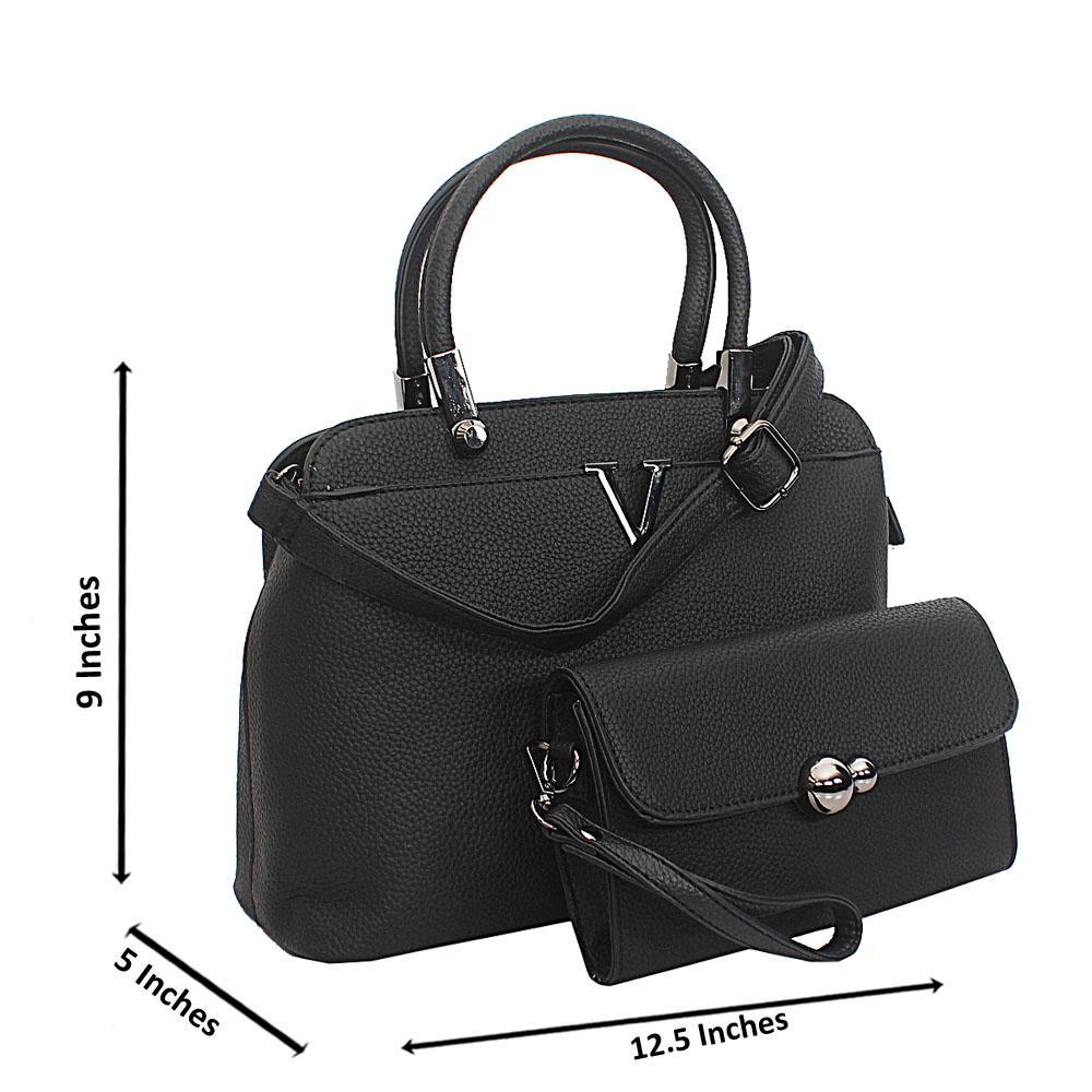 Black Meadow Tuscany Leather Top Handle Handbag