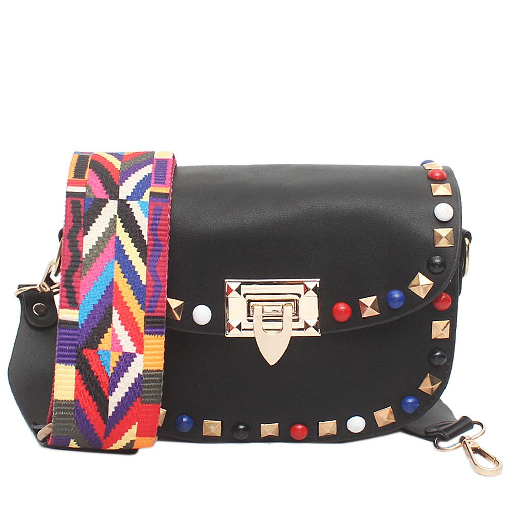 Cute Black Leather Small Bag