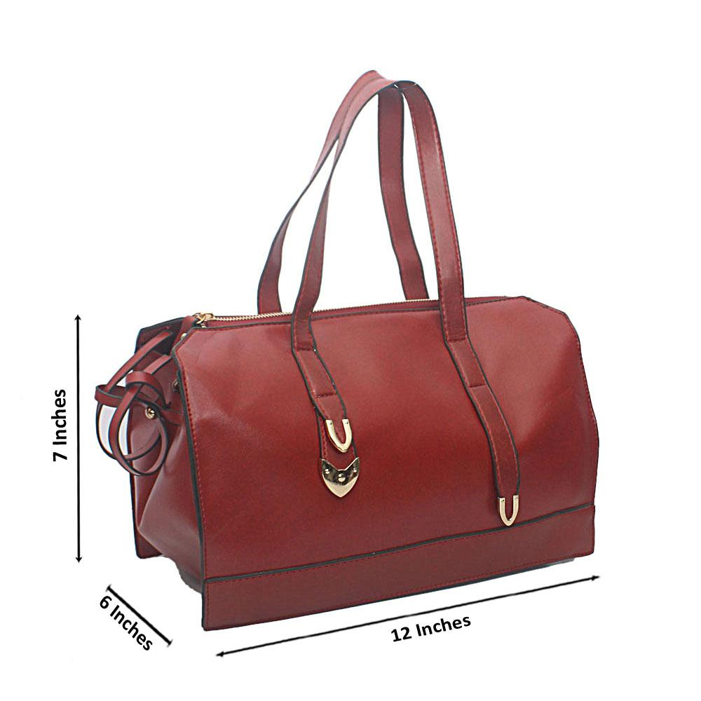 Wine Leather Handbag
