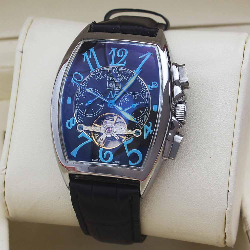 FC Porto Black Leather Silver Casablanca Men Watch
