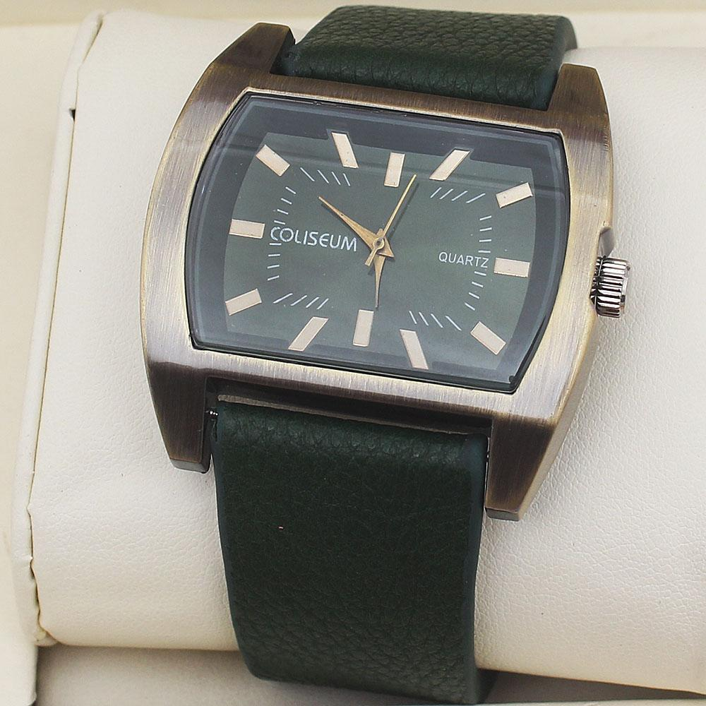 Coliseum Heritage Green Leather Men's Fashion Watch-