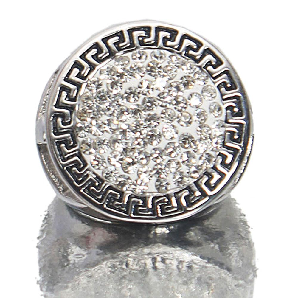 Silver Steel Studded Ring