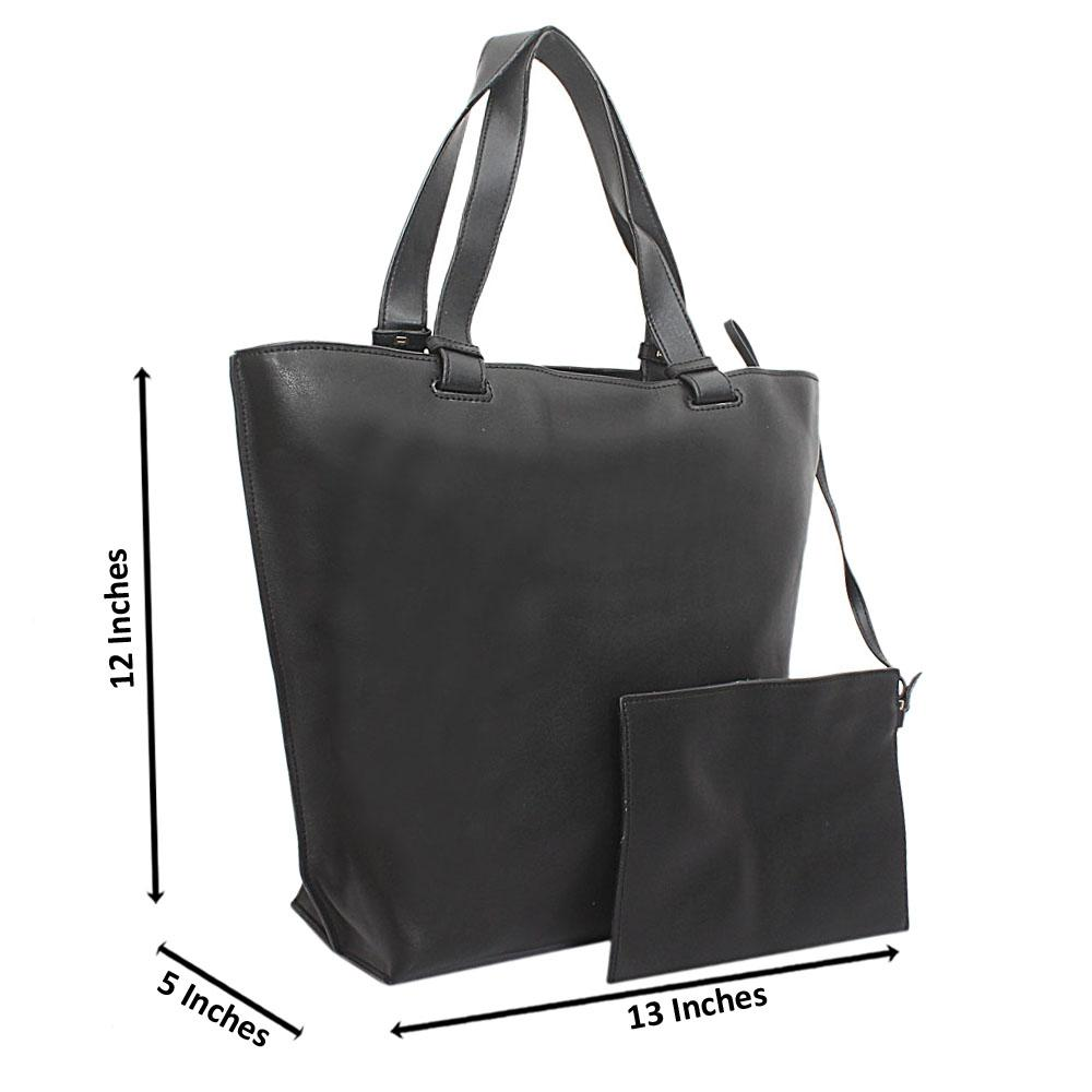 Black Florence Calfksin Leather Handbag