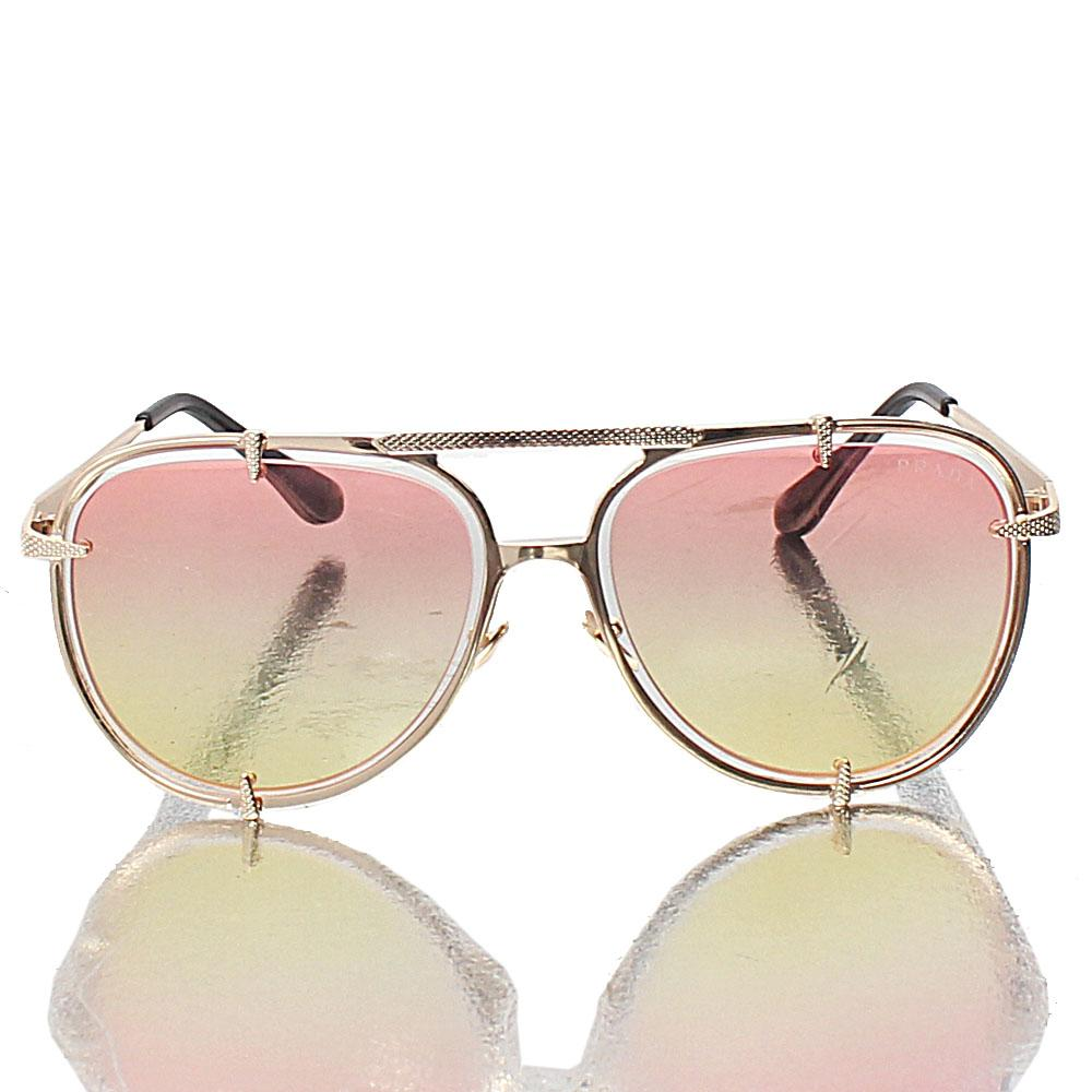 Gold Pilot Brown Lens Sunglasses