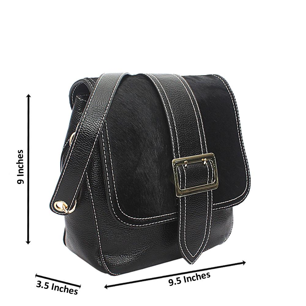 Black Animal Skin Leather Single Handle Bag