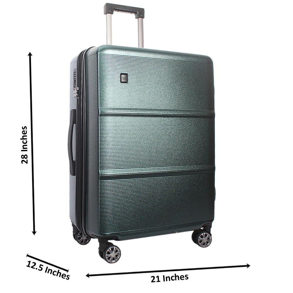 Green 28 Inch Premium Shell Large Suitcase Wt TSA Lock