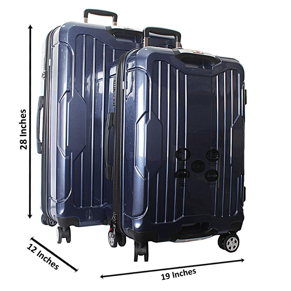 Saint Blue 28 inch wt 24 inch 2-in-1 Hardshell Spinners Premium Suitcase Se