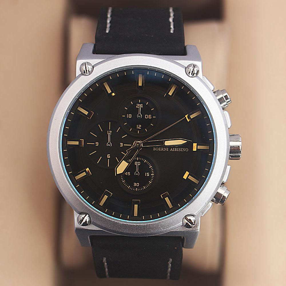 Iron Man Black Croc Leather Watch