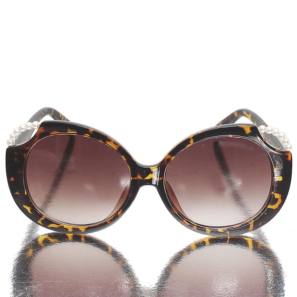 Brown Round Eye Brown Lens Sunglasses