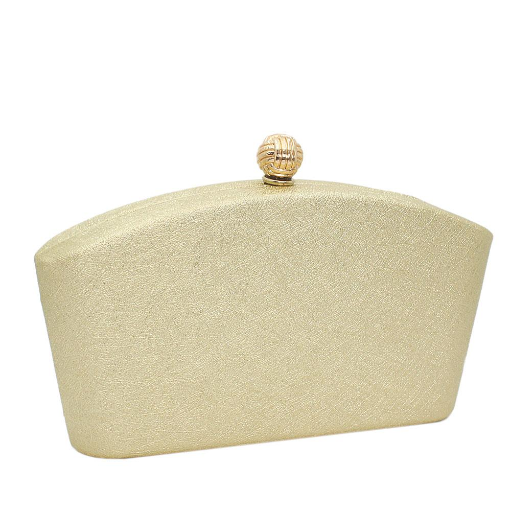 Light Gold Barbie Leather Clutch Purse