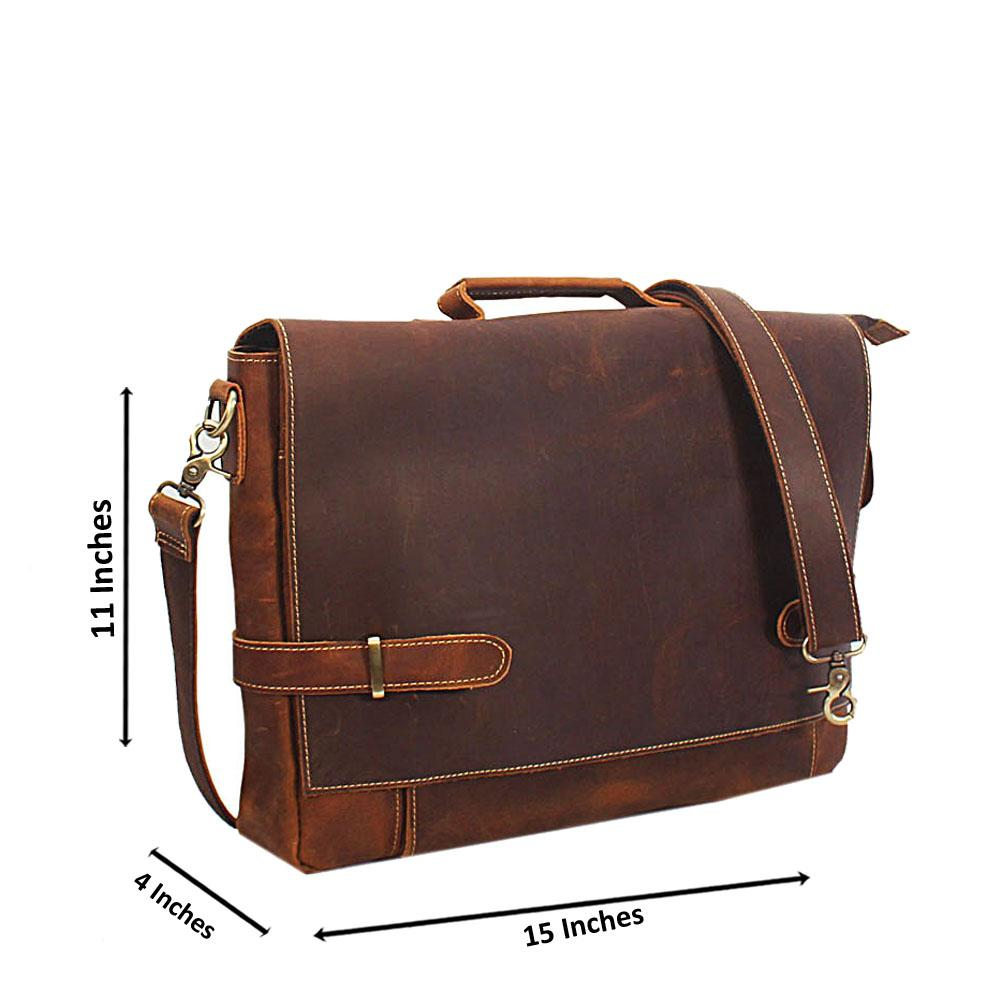 Brown Handmade Leather Briefcase