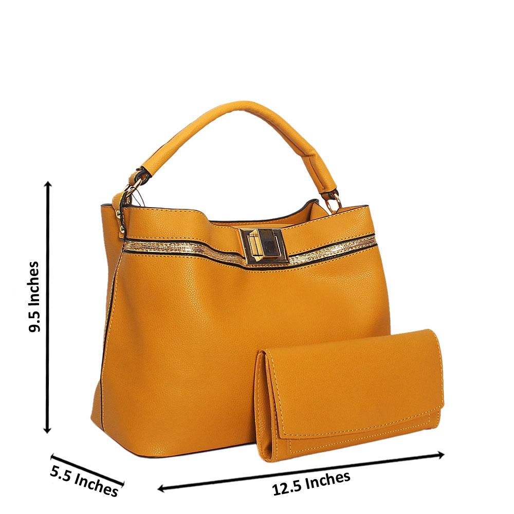 Yellow Keira Smooth Leather Top Handle Handbag