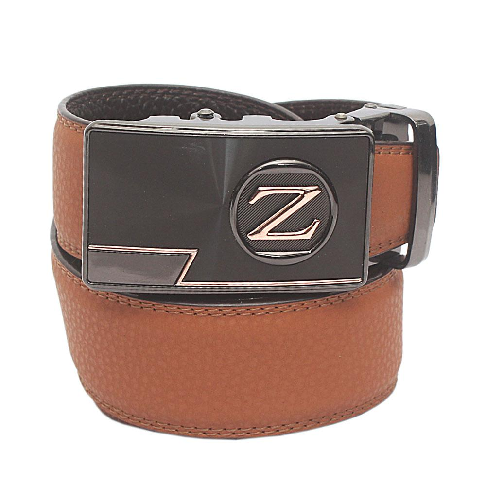 Brown Exotic Leather Belt L 52 Inches
