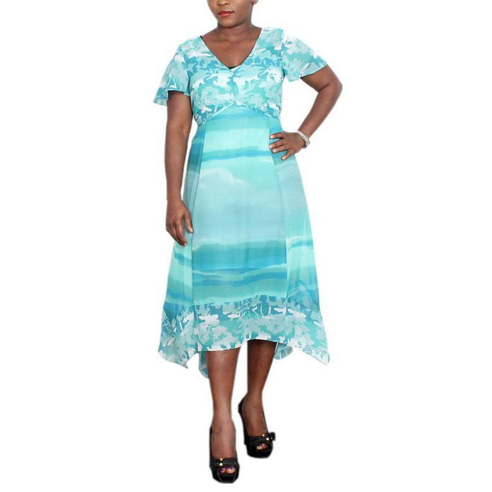 Peruna Aqua Green Ladies Dress-UK 10
