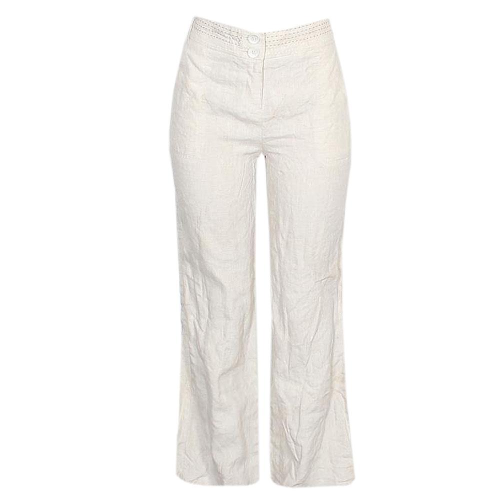 Per Una Cream Linen Ladies Wide Leg Trousers