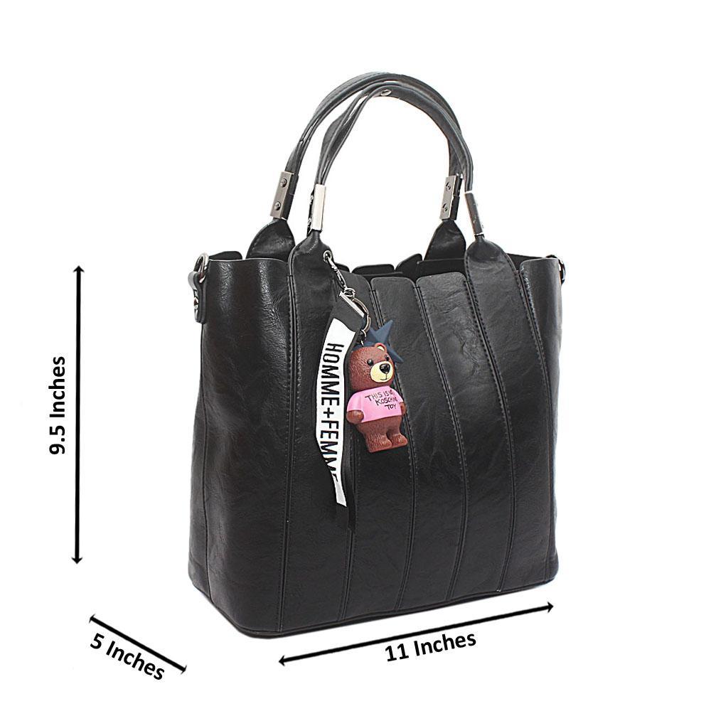 Black El Paso Leather Handbag