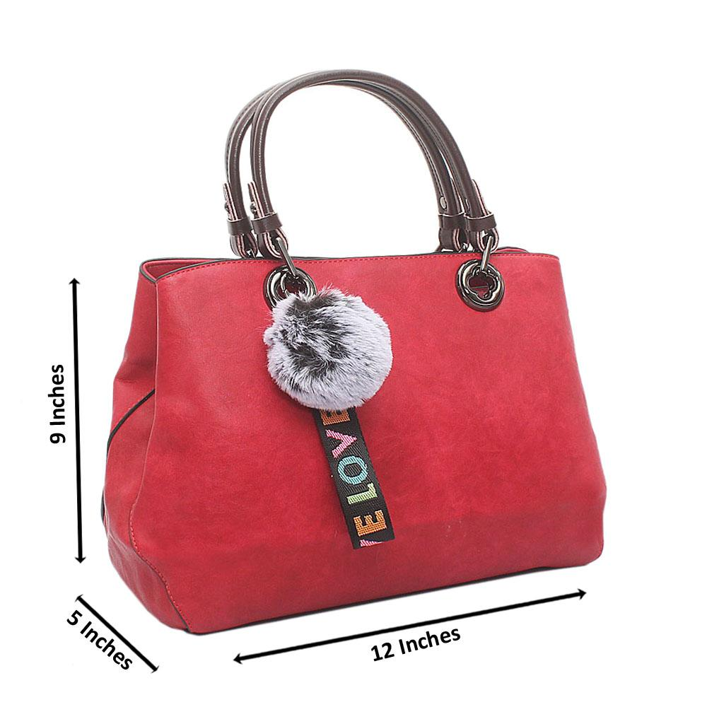 Red Love Medium Leather Handbag