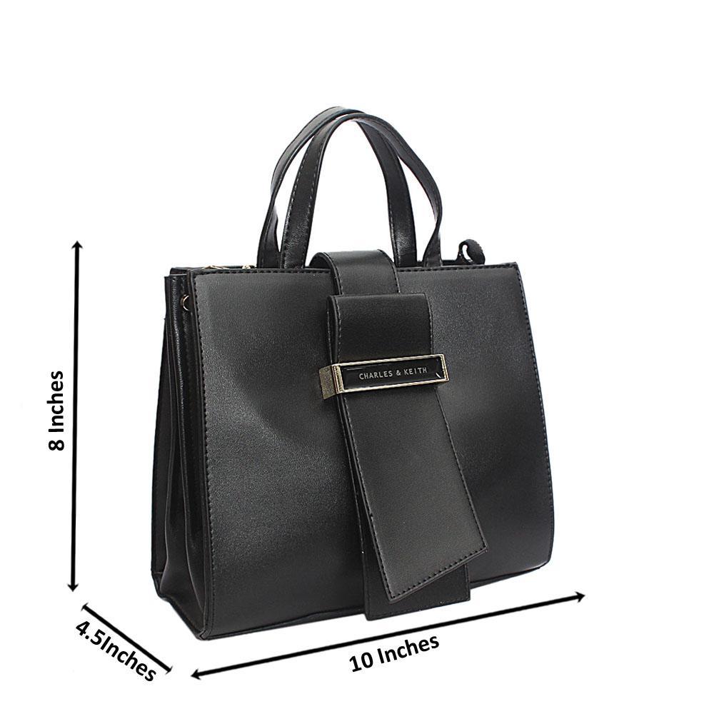 Black Keith Leather Handbag