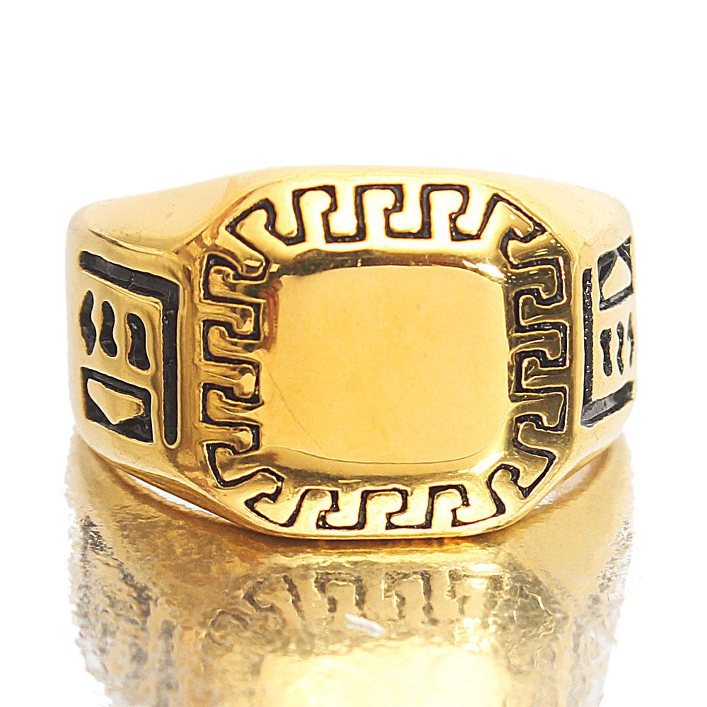 Gold Steel Classic Ring