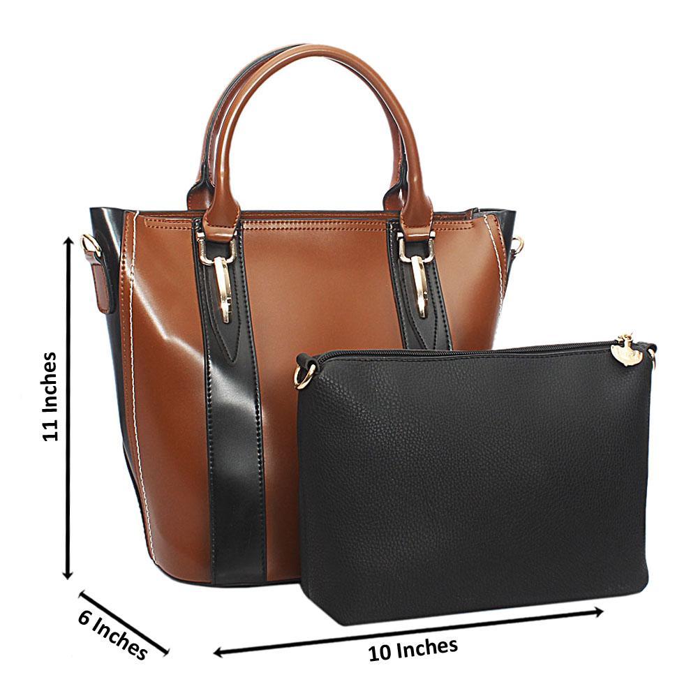 Brown Claw Leather Handbag