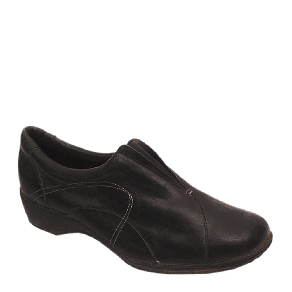 Footglove Black Leather Ladies Shoe