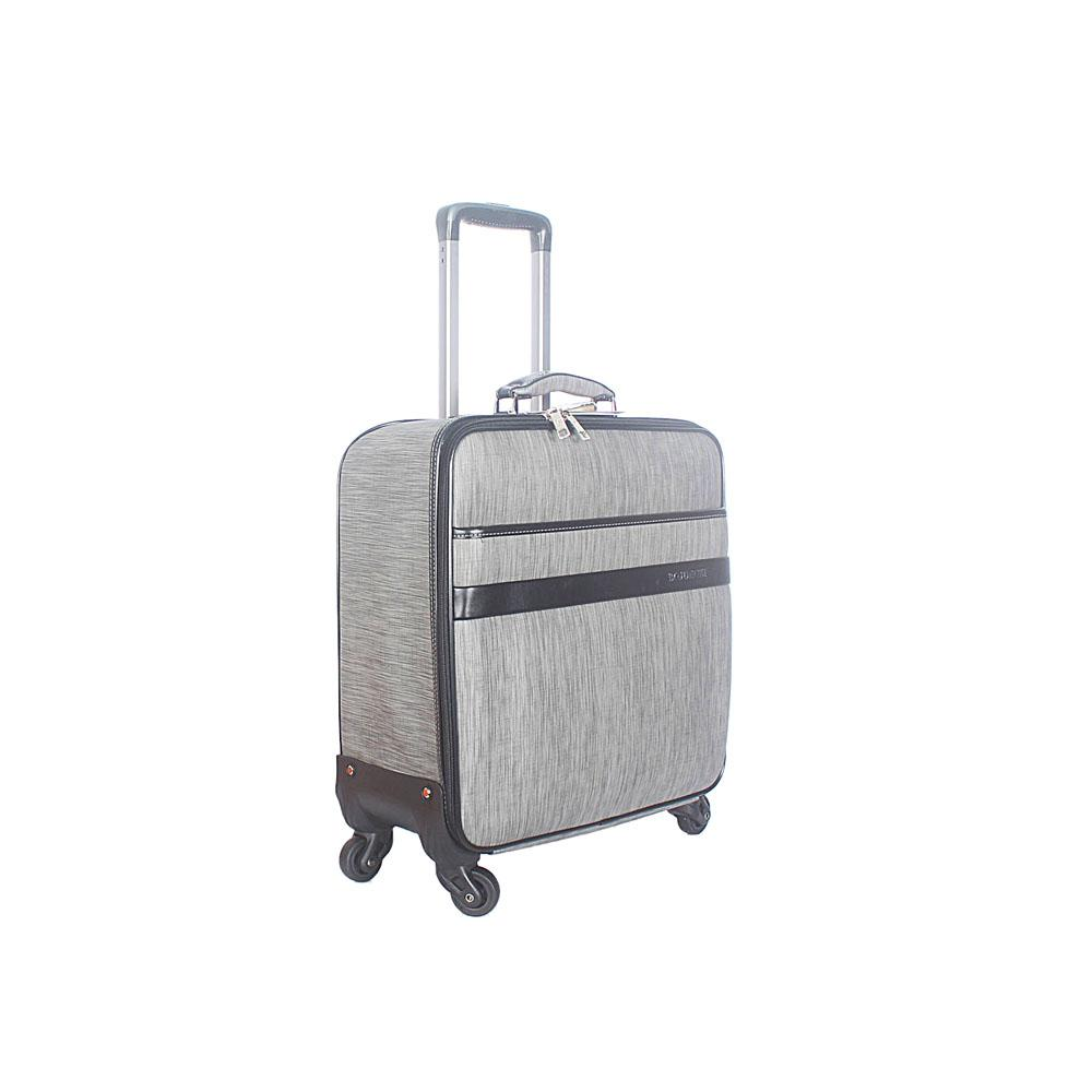 Dark Gray 16 Inch Leather Pilot Suitcase Wt Lock
