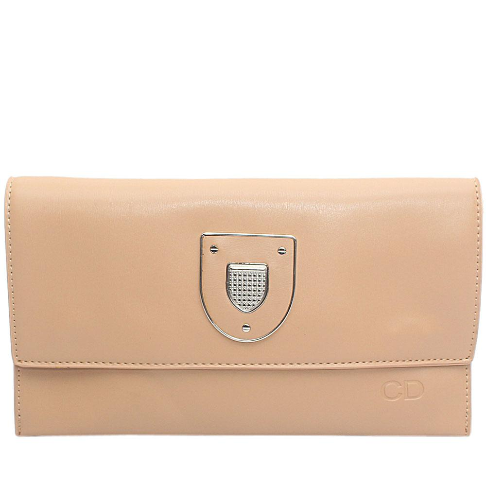 Camel Brown Marshal Leather Flat Purse