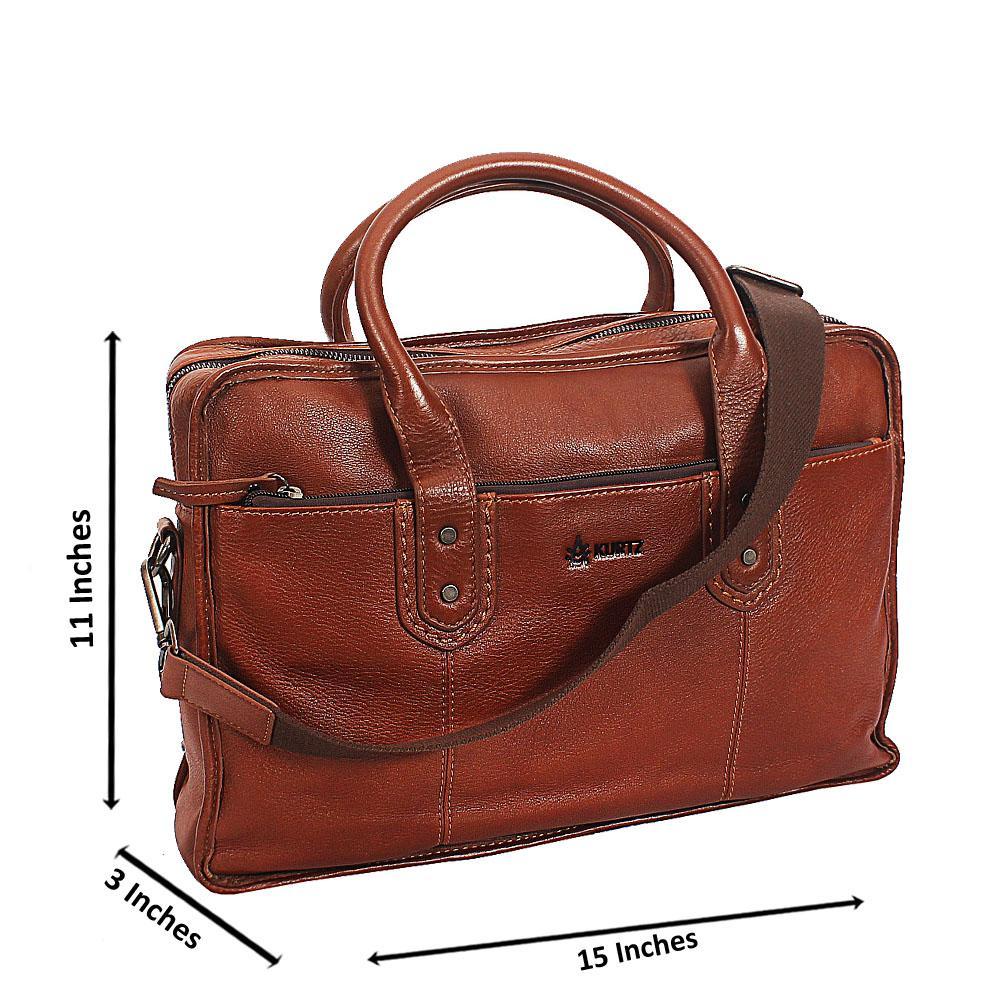 Brown Kurtz Vintage Leather Briefcase