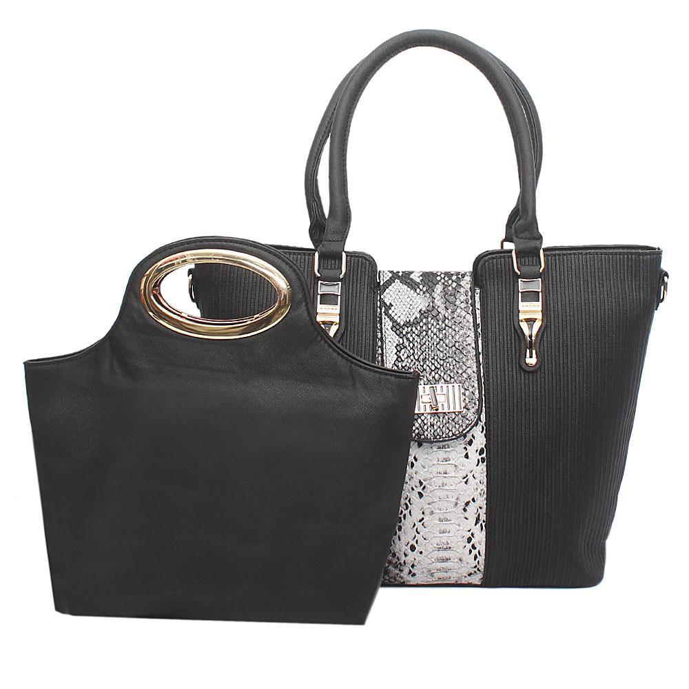 Classic Black Leather Bag