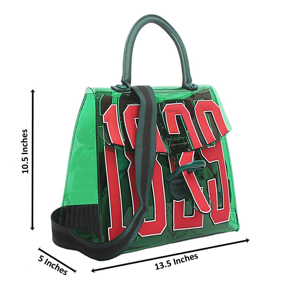 Green Rubber Medium 1829 Handbag