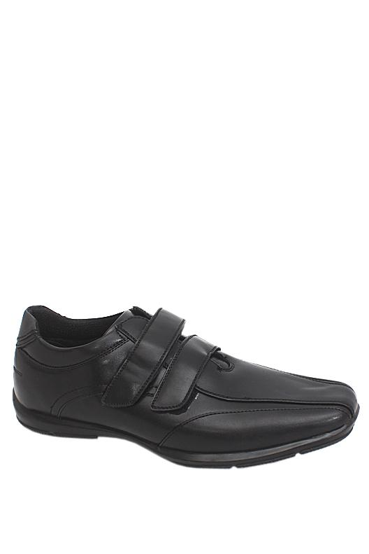 M & S Man Black Leather Men Shoe