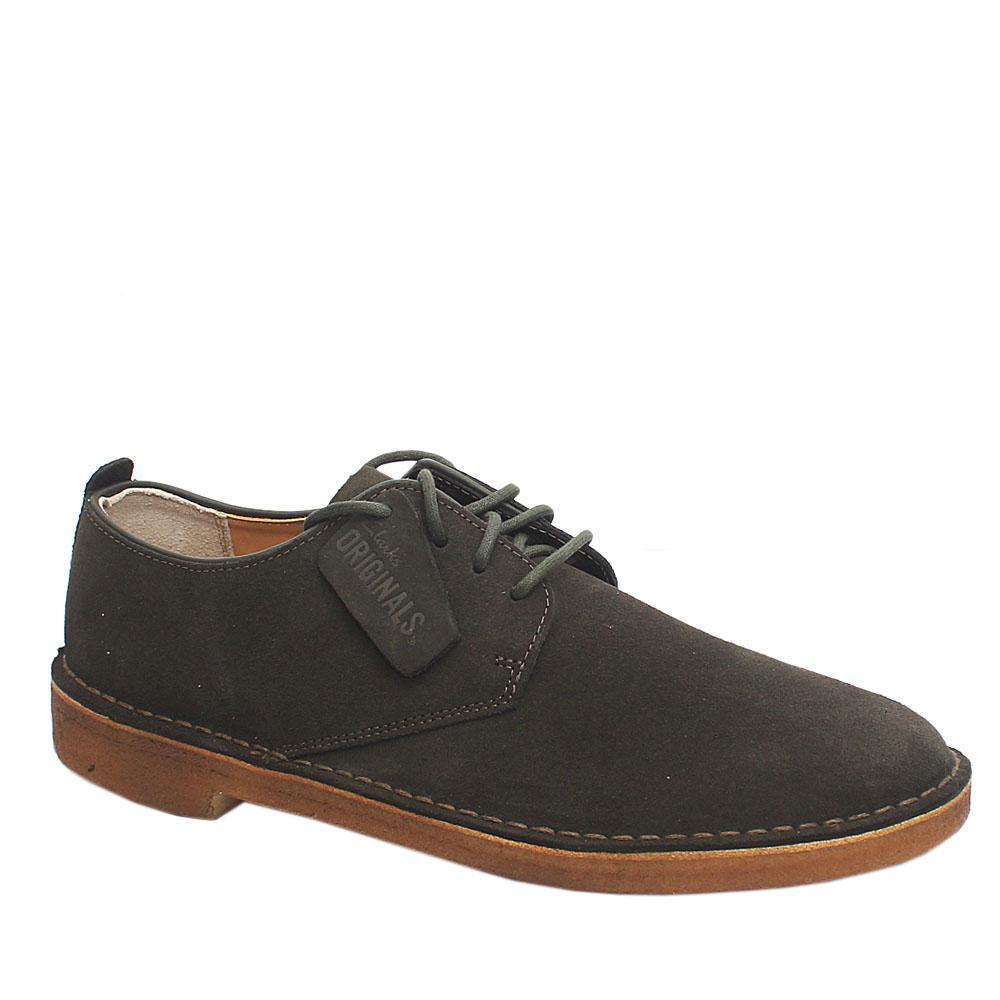 Clarks Desert London Green Premium Suede Leather Shoe
