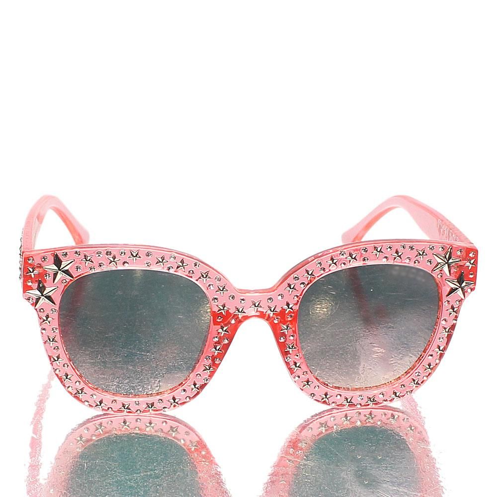 Pink Star Ice Studded UV Polarized Sunglasses