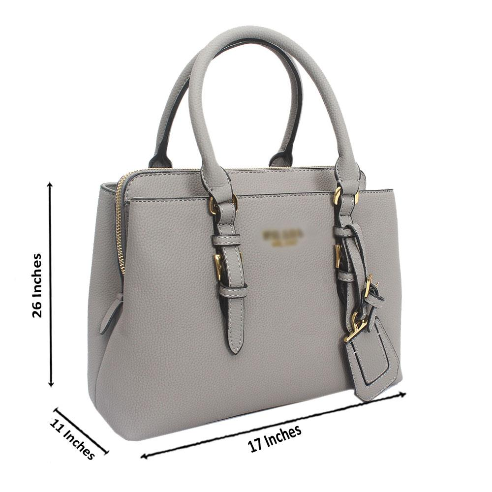 Gray Miliano Leather Handbag