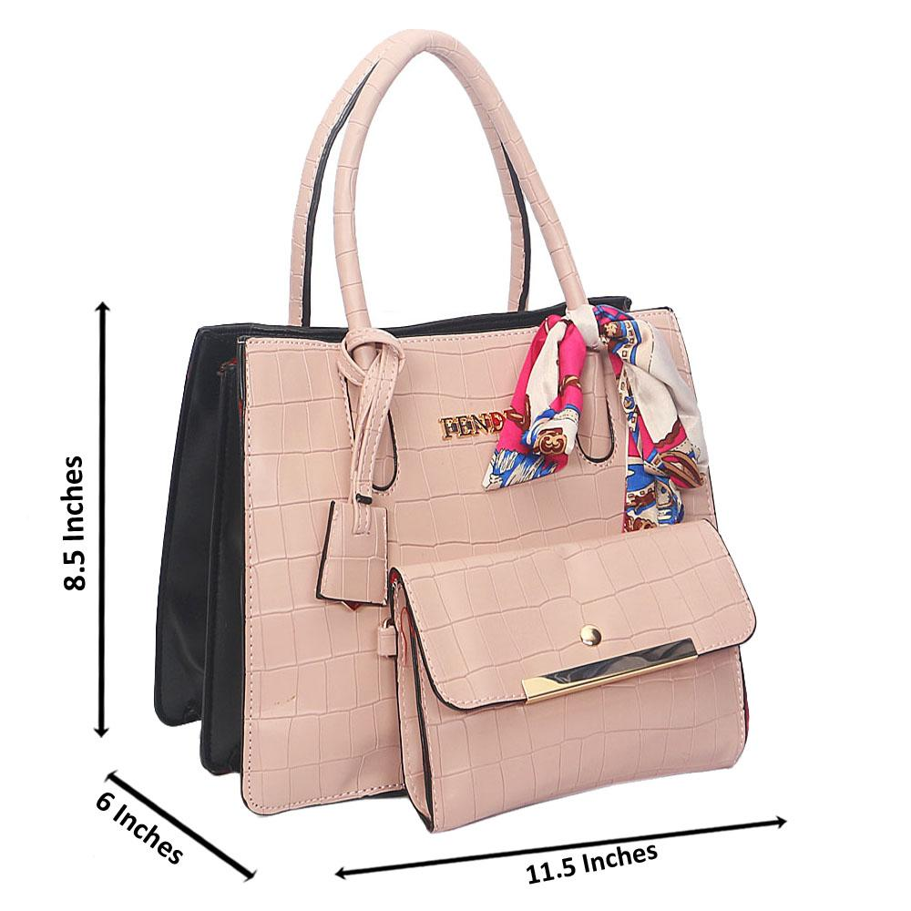Pink Smooth Lover Leather Tote Handbag